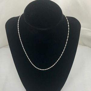 Jewelry - .925 Solid Italian Singapore Silver Necklace
